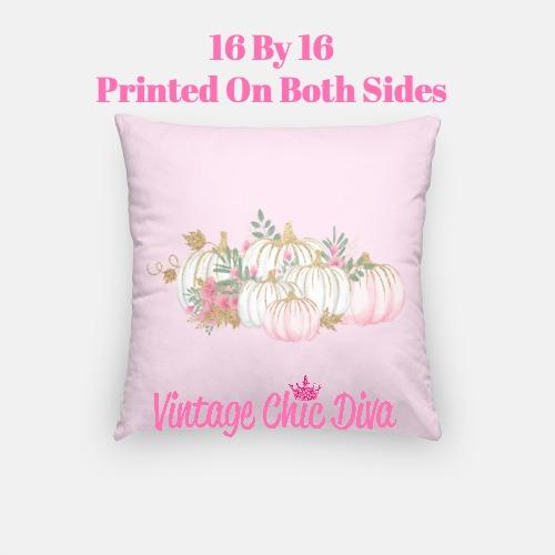 Pastel Pumpkins1 Pillow Case-