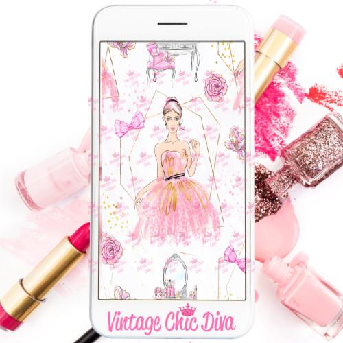 Pinkaholic2 Phone Wallpaper-