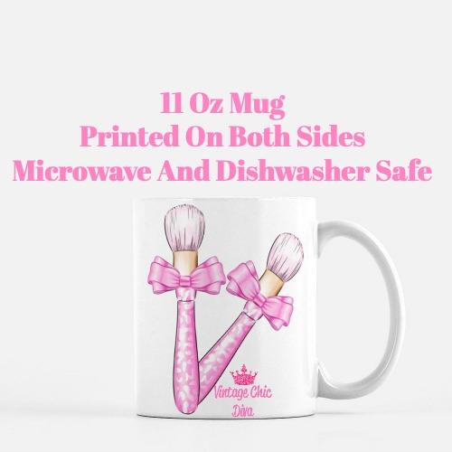 Pinkaholic Brush Set1 Coffee Mug-