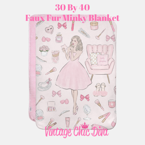 Pink Beauty Girl1 Blanket-