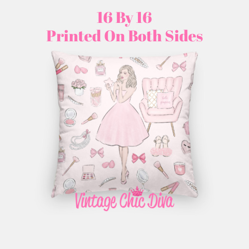 Pink Beauty Girl1 Pillow Case-