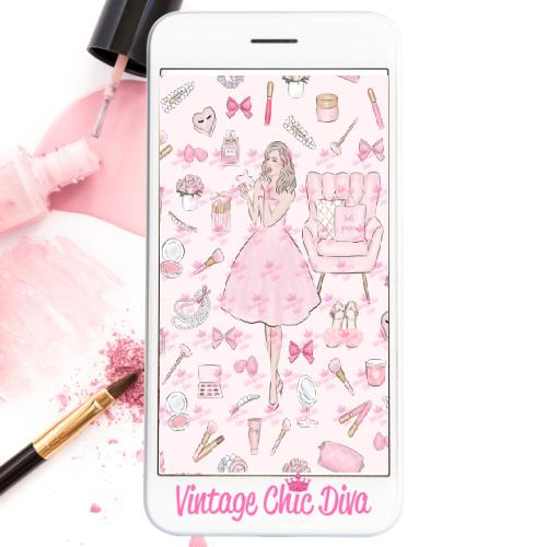 Pink Beauty Girl1 Wallpaper-