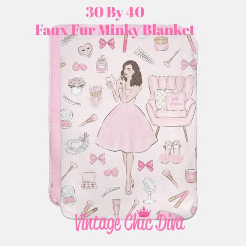 Pink Beauty Girl2 Blanket-