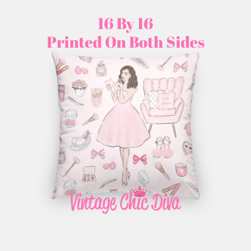 Pink Beauty Girl2 Pillow Case-