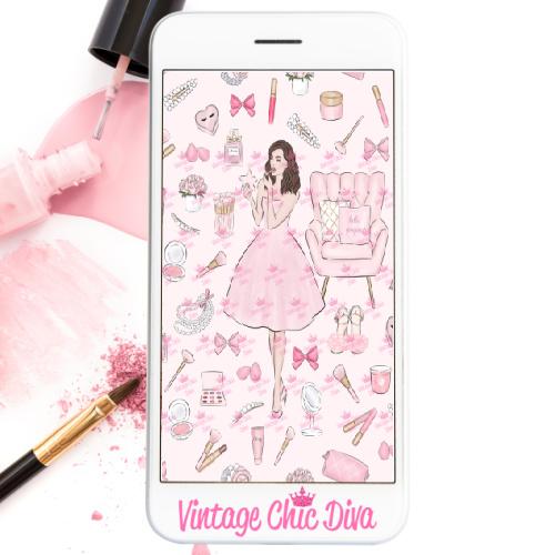 Pink Beauty Girl2 Wallpaper-