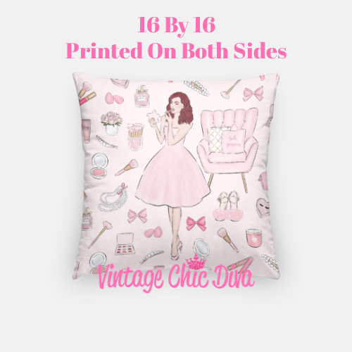 Pink Beauty Girl3 Pillow Case-
