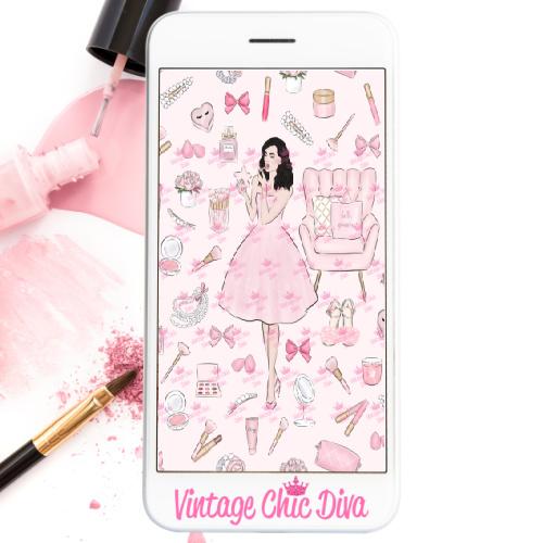 Pink Beauty Girl3 Wallpaper-