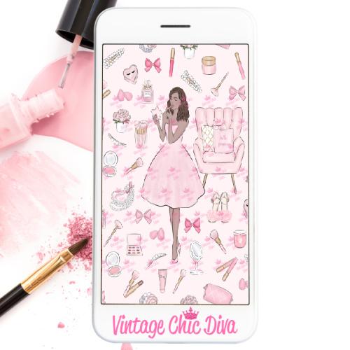 Pink Beauty Girl4 Wallpaper-