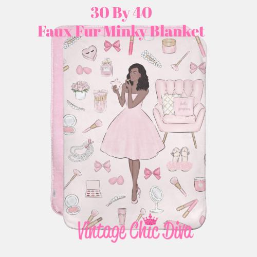 Pink Beauty Girl5 Blanket-