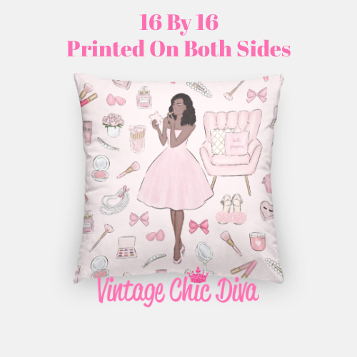 Pink Beauty Girl5 Pillow Case-
