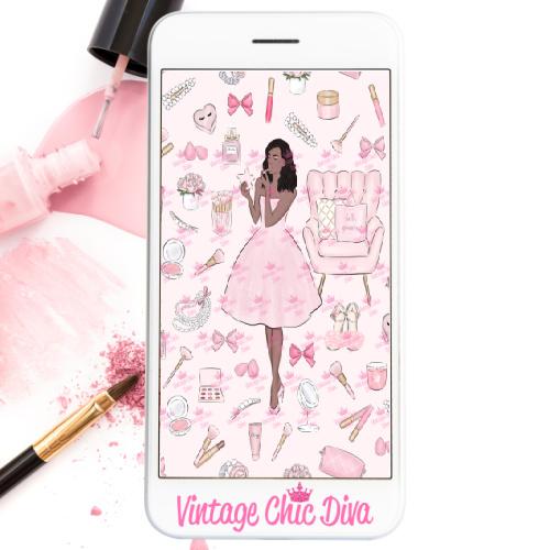Pink Beauty Girl5 Wallpaper-
