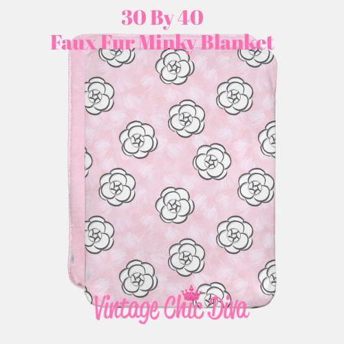 Pink Beauty Girl Flowers1 Blanket-