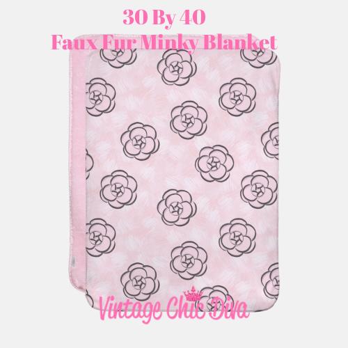 Pink Beauty Girl Flowers2 Blanket-