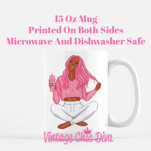 Pink Cat Girl6 Coffee Mug-