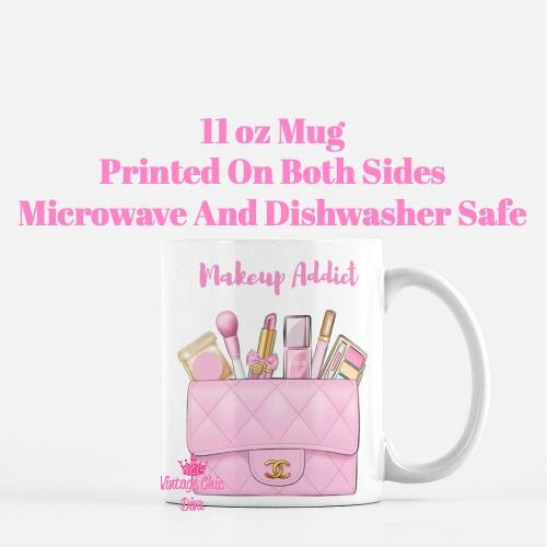 Pink Chanel Bag Makeup11 Coffee Mug-