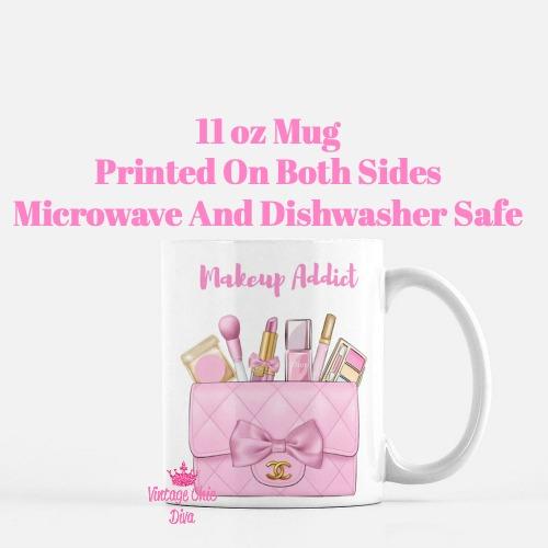 Pink Chanel Bag Makeup12 Coffee Mug-