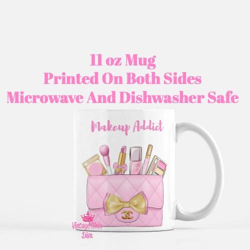 Pink Chanel Bag Makeup15 Coffee Mug-