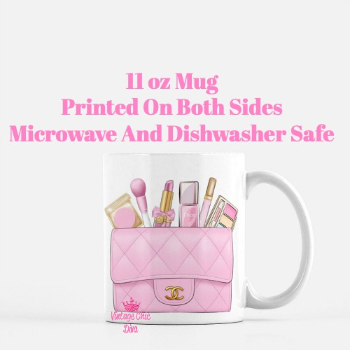 Pink Chanel Bag Makeup1 Coffee Mug-
