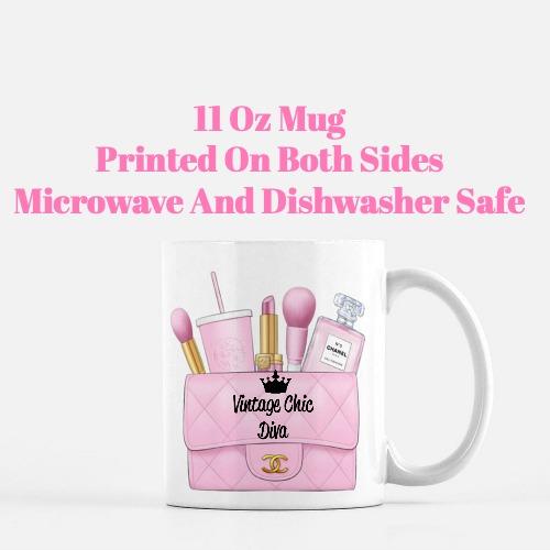 Pink Chanel Bag Makeup20 Coffee Mug-