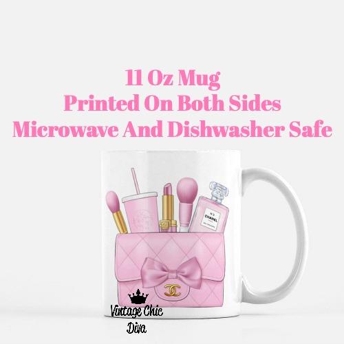 Pink Chanel Bag Makeup21 Coffee Mug-