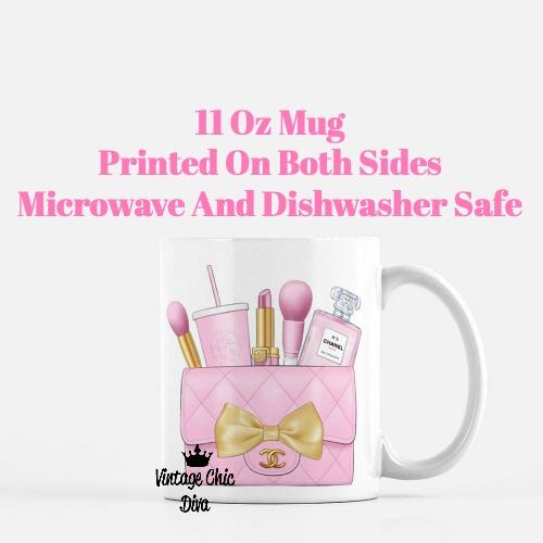 Pink Chanel Bag Makeup22 Coffee Mug-