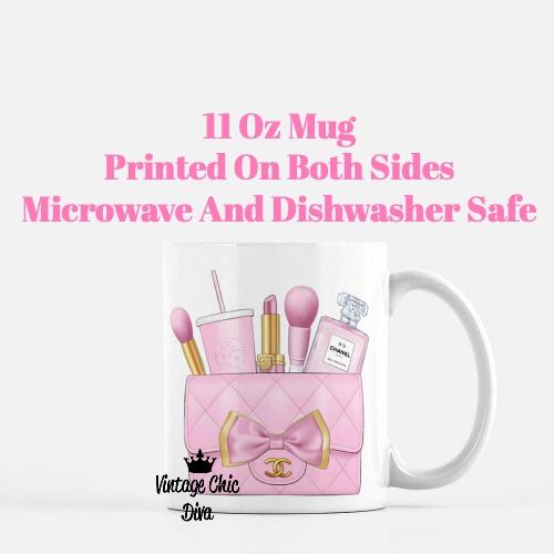 Pink Chanel Bag Makeup23 Coffee Mug-