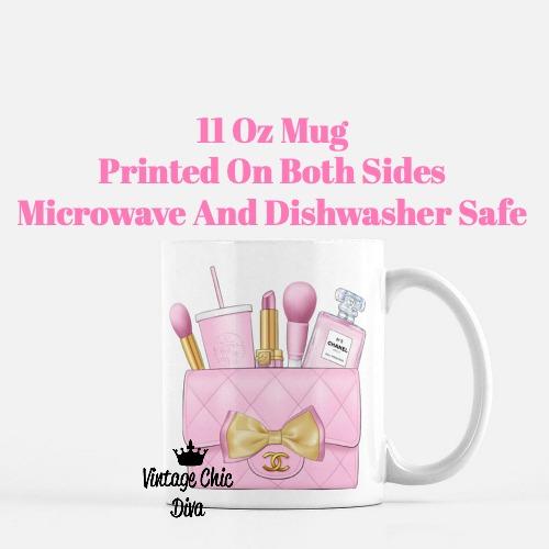 Pink Chanel Bag Makeup24 Coffee Mug-