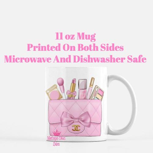 Pink Chanel Bag Makeup2 Coffee Mug-