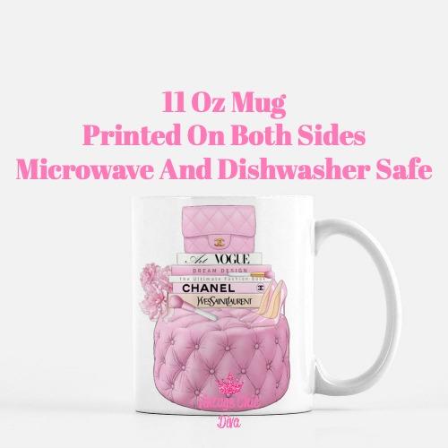 Pink Chanel Handbag Stool Set1 Coffee Mug-