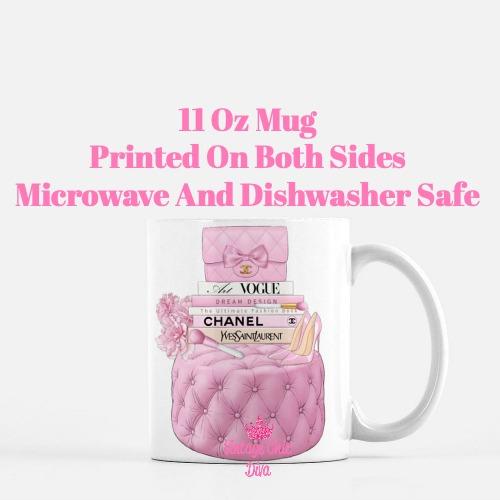 Pink Chanel Handbag Stool Set2 Coffee Mug-