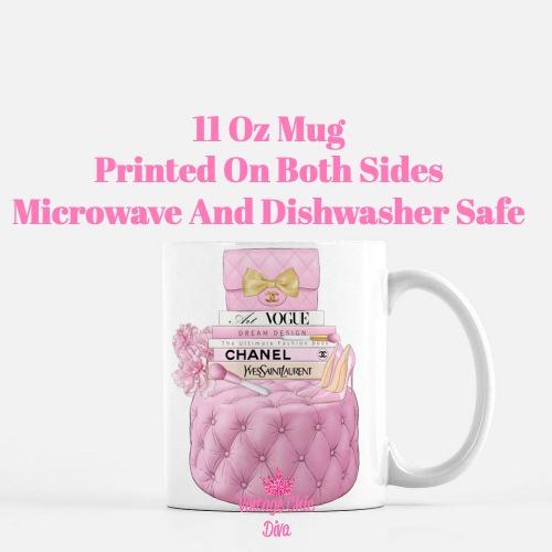 Pink Chanel Handbag Stool Set3 Coffee Mug-