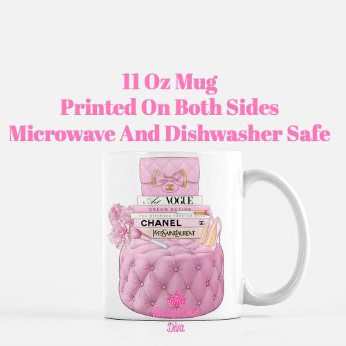 Pink Chanel Handbag Stool Set4 Coffee Mug-