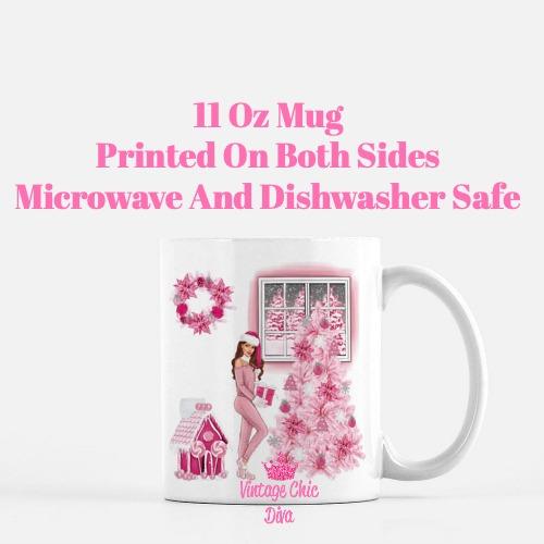 Pink Christmas Girl10 Coffee Mug-