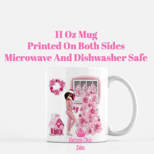 Pink Christmas Girl12 Coffee Mug-