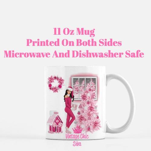 Pink Christmas Girl13 Coffee Mug-