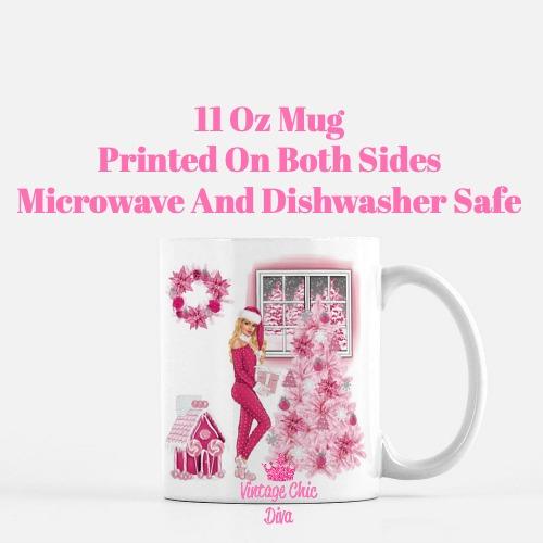 Pink Christmas Girl14 Coffee Mug-
