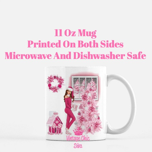 Pink Christmas Girl15 Coffee Mug-