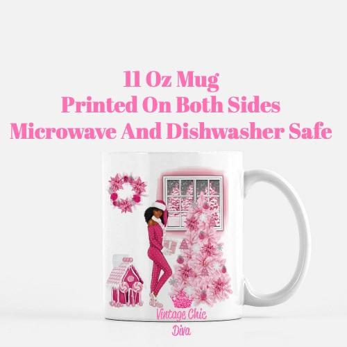 Pink Christmas Girl16 Coffee Mug-