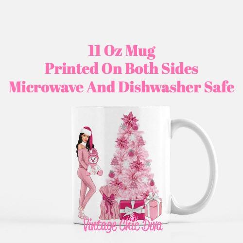 Pink Christmas Girl17 Coffee Mug-