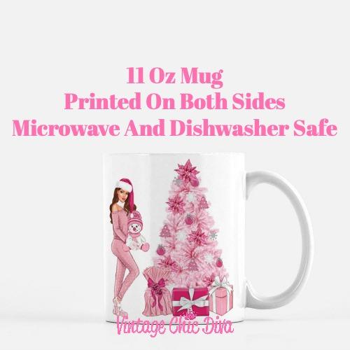 Pink Christmas Girl18 Coffee Mug-