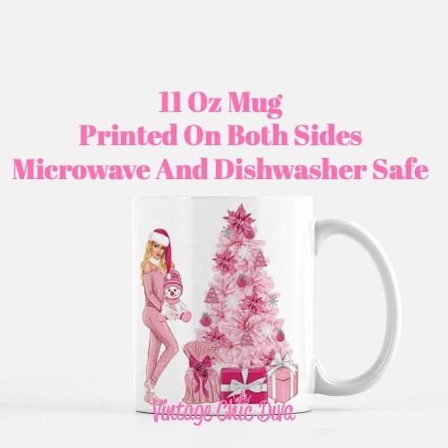 Pink Christmas Girl19 Coffee Mug-