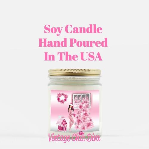 Pink Christmas Girl1 Candle-