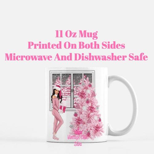 Pink Christmas Girl1 Coffee Mug-