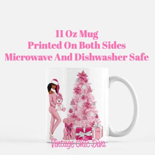 Pink Christmas Girl20 Coffee Mug-