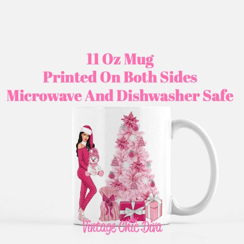 Pink Christmas Girl21 Coffee Mug-