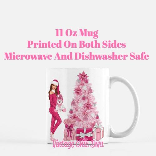 Pink Christmas Girl22 Coffee Mug-