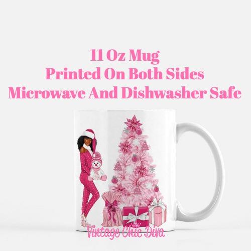Pink Christmas Girl24 Coffee Mug-