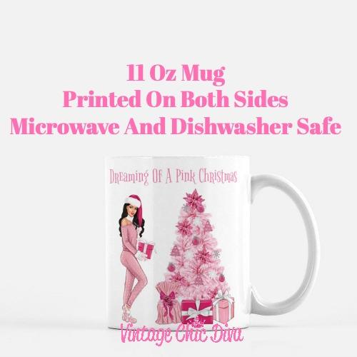 Pink Christmas Girl25 Coffee Mug-