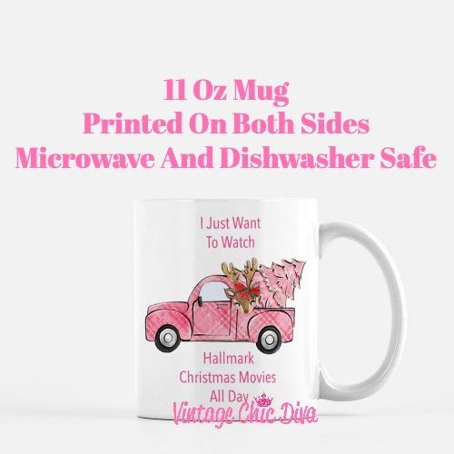 Pink Christmas Truck1 Coffee Mug-