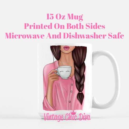 Pink Coffee Girl2 Coffee Mug-